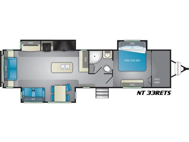 North Trail Travel Trailer Model 33RETS by Heartland Floorplan