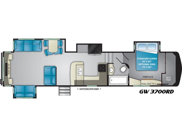 Gateway Fifth Wheel Model 3700RD by Heartland Floorplan