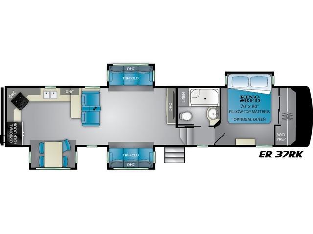 Elkridge Fifth Wheel Model 37RK by Heartland Floorplan