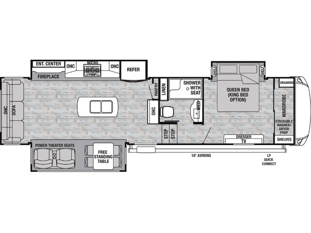 Silverback Fifth Wheel Model 31IK by Forest River Floorplan