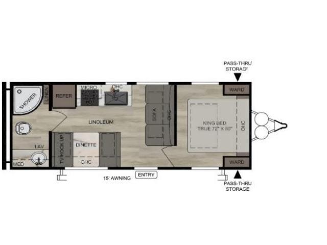 Della Terra Travel Trailer Model 230RB by East to West Floorplan