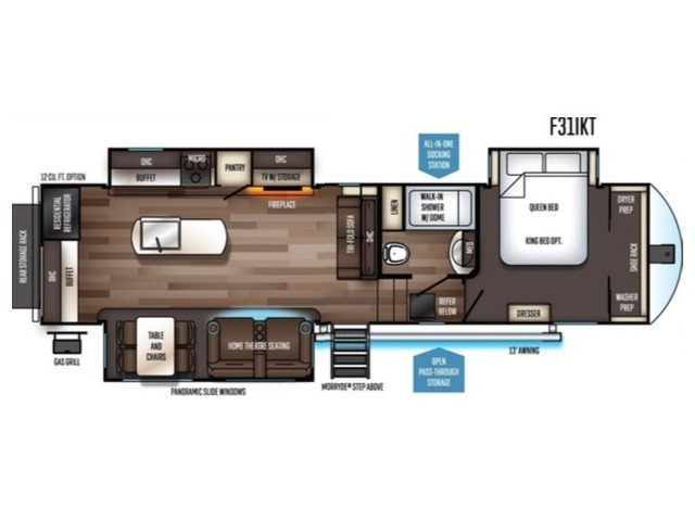 Sabre Fifth Wheel Model 31IKT by Forest River Floorplan