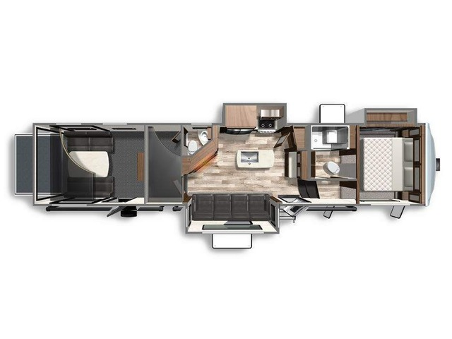 Voltage Toy Hauler (Fifth Wheel) Model 3915 by Dutchmen Floorplan