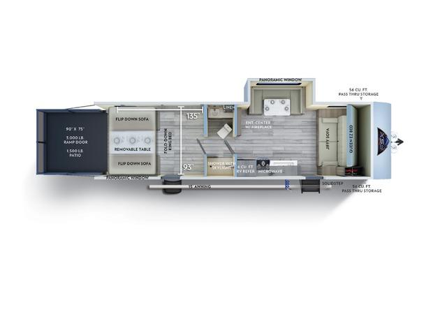 Salem FSX Toy Hauler (Travel Trailer) Model 280RT by Forest River Floorplan