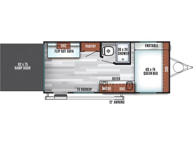 Salem FSX Travel Trailer Model 181RT by Forest River Floorplan