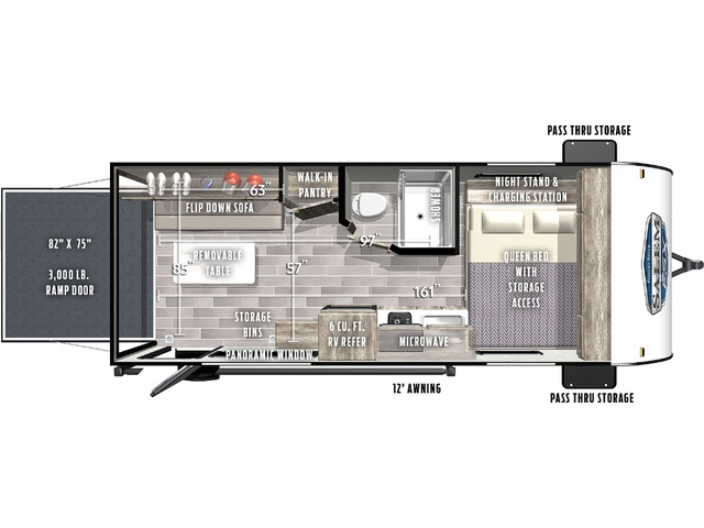 Salem FSX Travel Trailer Model 181RT by Forest River Floorplan