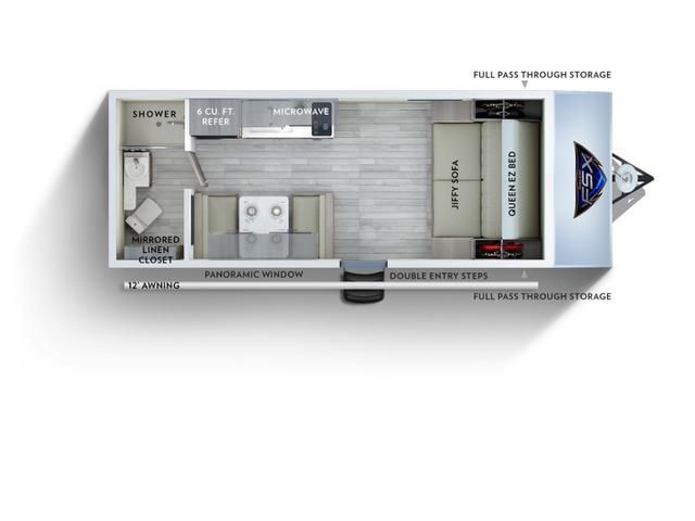 Salem FSX Travel Trailer Model 167RB by Forest River Floorplan
