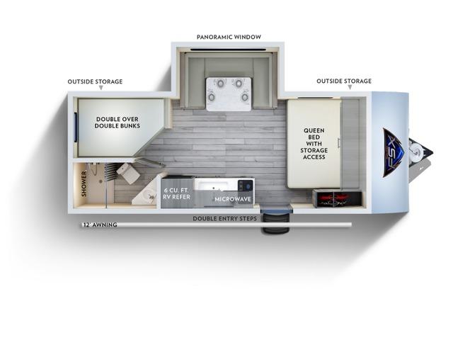 Salem FSX Travel Trailer Model 178BHS by Forest River Floorplan