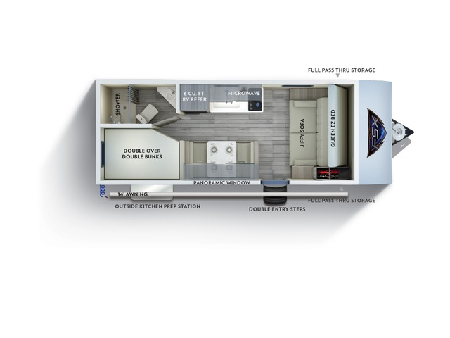Salem FSX Travel Trailer Model 179DBK by Forest River Floorplan