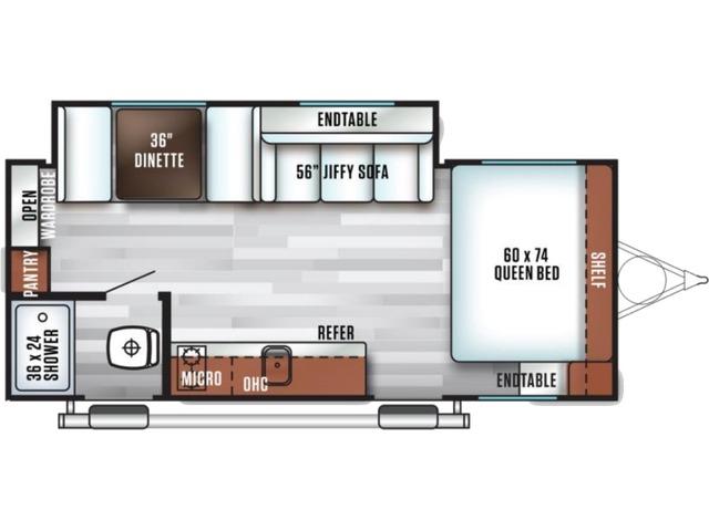 Salem FSX Travel Trailer Model 170SS by Forest River Floorplan