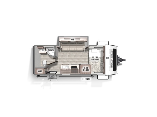 No Boundaries (NOBO) Travel Trailer Model NB16.8 by Forest River Floorplan