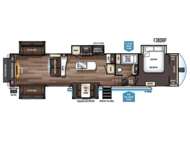 Sabre Fifth Wheel Model 38RDP by Forest River Floorplan