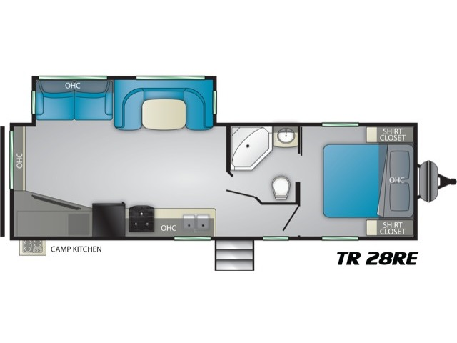 Trail Runner Travel Trailer Model 28RE by Heartland Floorplan