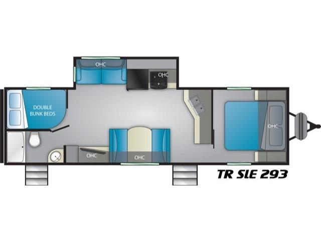 Trail Runner SLE Travel Trailer Model 293SLE by Heartland Floorplan