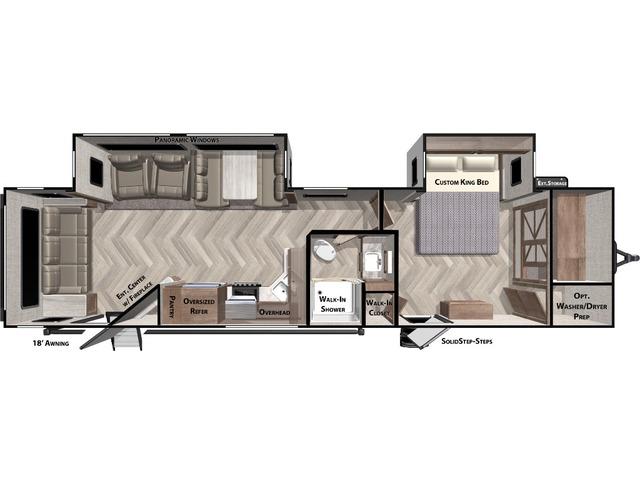Salem Travel Trailer Model 32RLDS by Forest River Floorplan