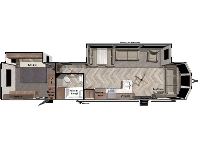 Salem Villa Classic Park Trailer Model 40FDEN by Forest River Floorplan