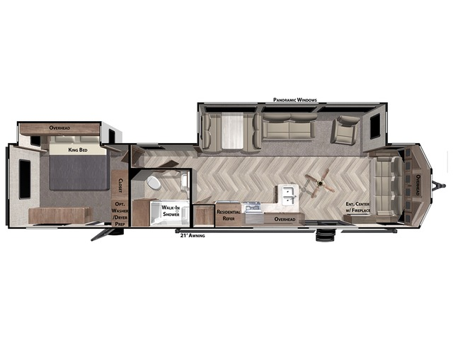 Salem Villa Park Trailer Model 40FDEN by Forest River Floorplan