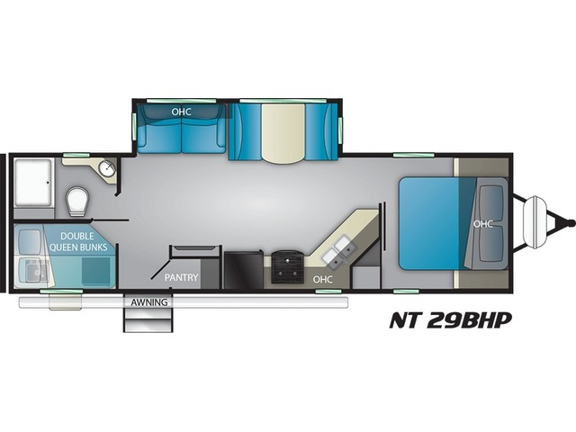 North Trail Travel Trailer Model 29BHP by Heartland Floorplan