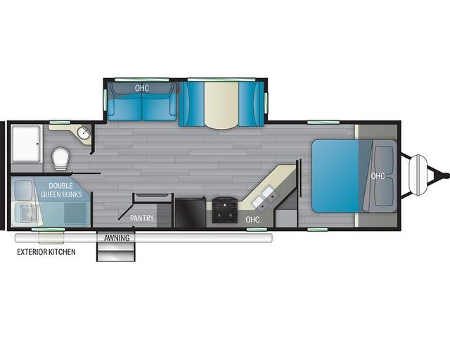 North Trail Travel Trailer Model 29BHP by Heartland Floorplan