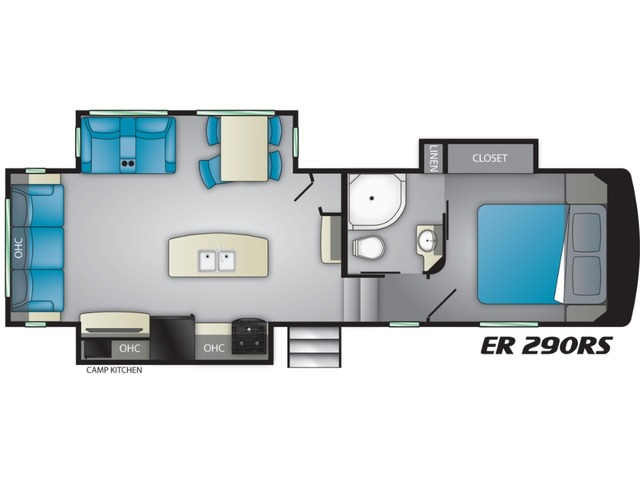 Elkridge Focus Fifth Wheel Model 290RS by Heartland Floorplan