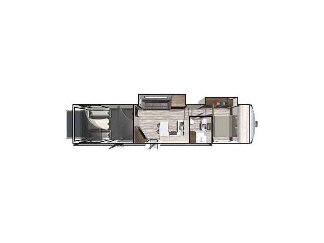 XLR Thunderbolt Toy Hauler (Fifth Wheel) Model 369AMP by Forest River Floorplan