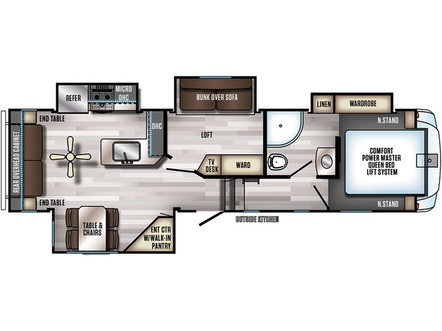 Arctic Wolf Fifth Wheel Model 295QSL8 by Forest River Floorplan