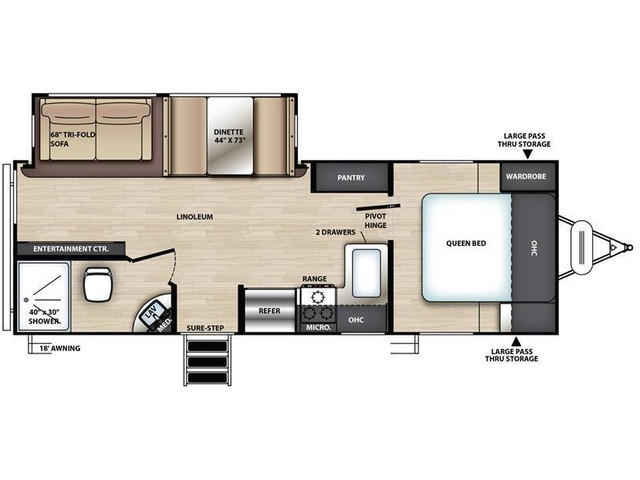 Vibe Travel Trailer Model 24X by Forest River Floorplan
