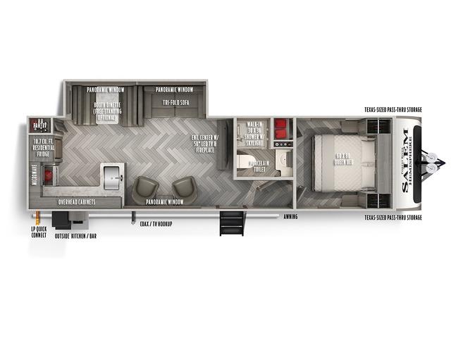 Hemisphere Travel Trailer Model 283RK by Forest River Floorplan