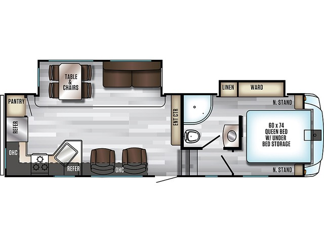 Arctic Wolf Fifth Wheel Model 245RK4 by Forest River Floorplan
