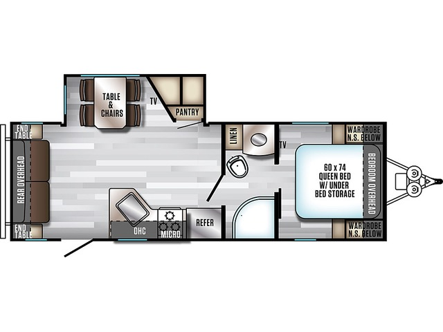Alpha Wolf Travel Trailer Model 23RD-L by Forest River Floorplan