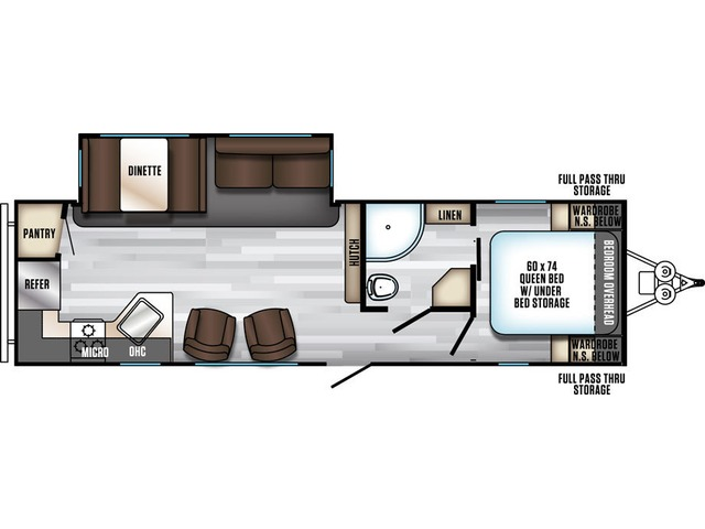 Alpha Wolf Travel Trailer Model 27RK-L by Forest River Floorplan