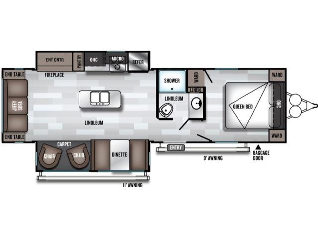 Salem Travel Trailer Model 27RE by Forest River Floorplan