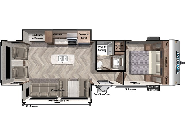 Salem Travel Trailer Model 27RE by Forest River Floorplan
