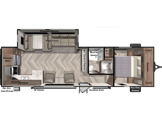 Salem Travel Trailer Model 27RKS by Forest River Floorplan