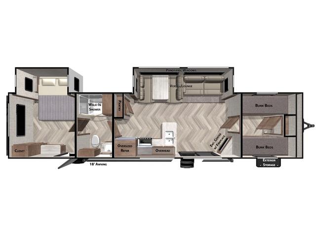 Salem Travel Trailer Model 36BHDS by Forest River Floorplan