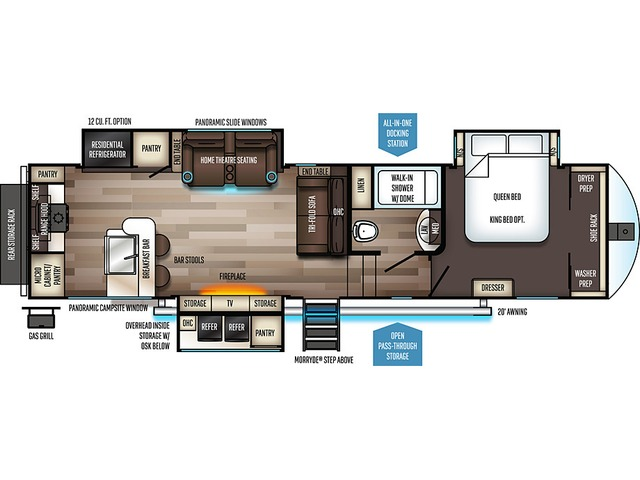 Sabre Fifth Wheel Model 32SKT by Forest River Floorplan