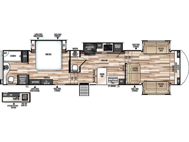 Hemisphere Elite Fifth Wheel Model 36FL by Forest River Floorplan