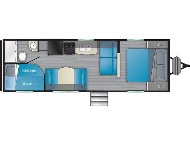 Prowler Travel Trailer Model 250BH by Heartland Floorplan