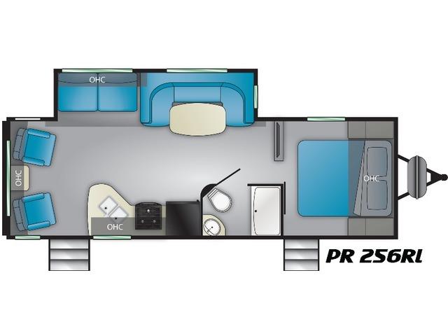 Prowler Travel Trailer Model 256RL by Heartland Floorplan