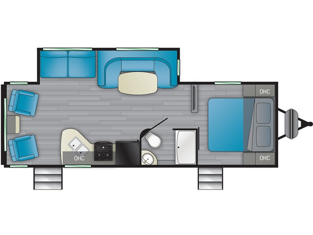 Prowler Travel Trailer Model 256RL by Heartland Floorplan