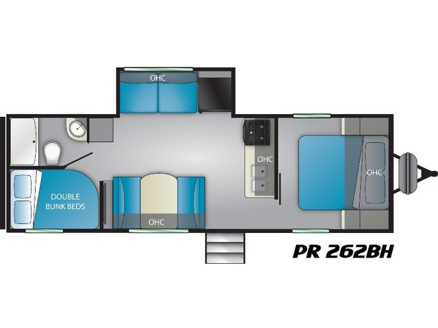 Prowler Travel Trailer Model 262BH by Heartland Floorplan