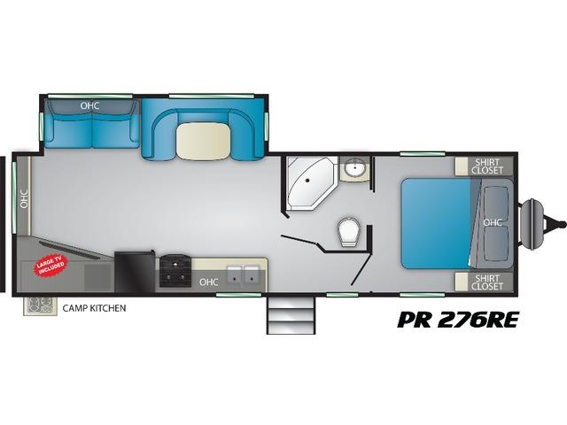 Prowler Travel Trailer Model 276RE by Heartland Floorplan