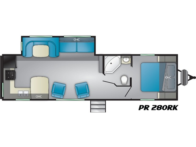 Prowler Travel Trailer Model 280RK by Heartland Floorplan