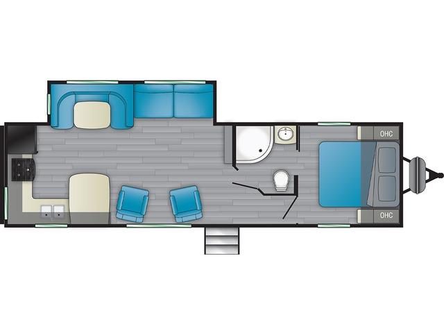 Prowler Travel Trailer Model 280RK by Heartland Floorplan