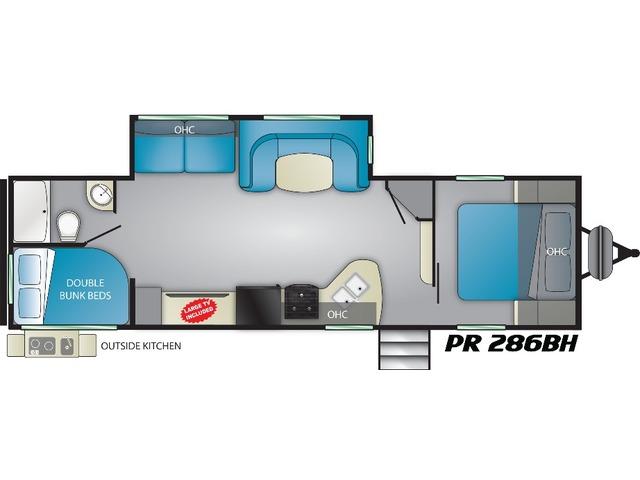 Prowler Travel Trailer Model 286BH by Heartland Floorplan
