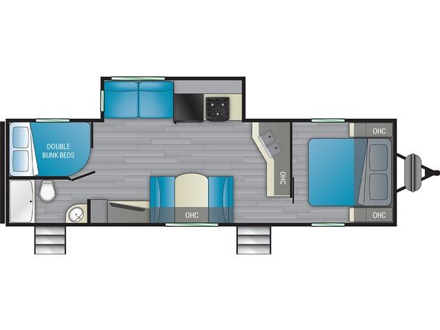 Prowler Travel Trailer Model 290BH by Heartland Floorplan