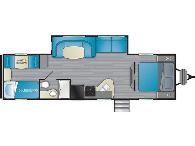 Prowler Travel Trailer Model 300BH by Heartland Floorplan