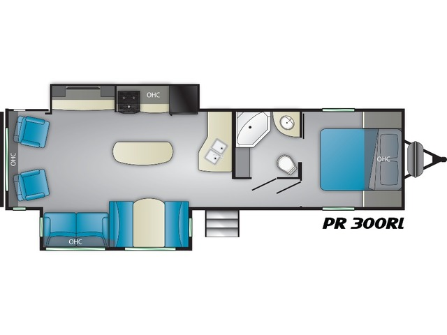 Prowler Travel Trailer Model 300RL by Heartland Floorplan