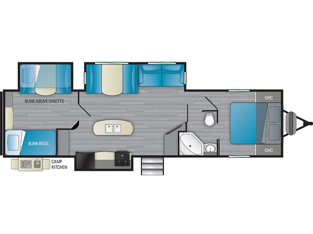 Prowler Travel Trailer Model 330BH by Heartland Floorplan