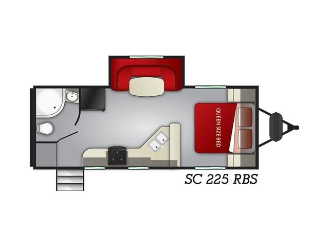 Shadow Cruiser Travel Trailer Model 225RBS by Cruiser RV Floorplan